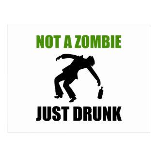 Cartão Postal Não zombi apenas bêbedo