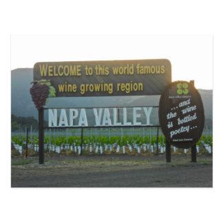 Cartão Postal Napa Valley, região vinícola de Califórnia