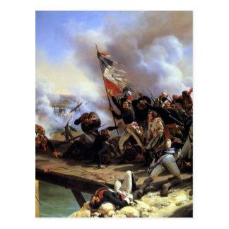 Cartão Postal Napoleon Bonaparte que conduz suas tropas