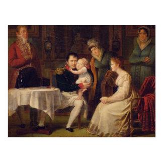 Cartão Postal Napoleon mim Marie Louise e rei de Roma