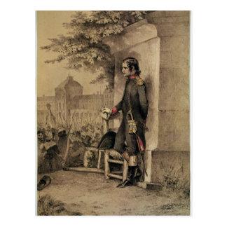Cartão Postal Napoleon mim no cerco do Tuileries