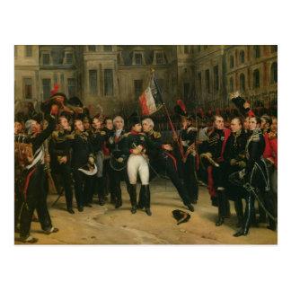 Cartão Postal Napoleon mim que ofereço o adeus ao imperial