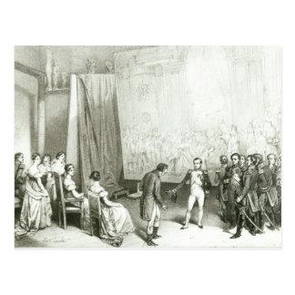 Cartão Postal Napoleon mim que visito o estúdio de David