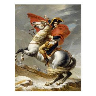 Cartão Postal Napoleon que cruza os cumes por Jacques Louis