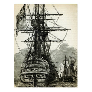 Cartão Postal Napoleon que rende-se para captain Maitland