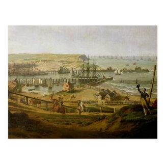 Cartão Postal Napoleon que visita o acampamento em Boulogne