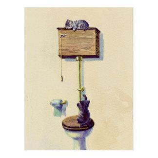 Cartão Postal NAPPING no ARMÁRIO de ÁGUA por SHARON SHARPE