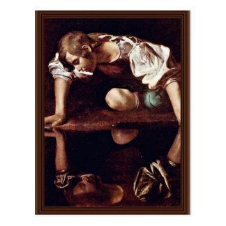 Cartão Postal Narzis, por Michelangelo Merisi a Dinamarca