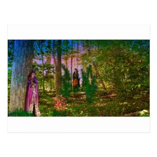 Cartão Postal Nas madeiras