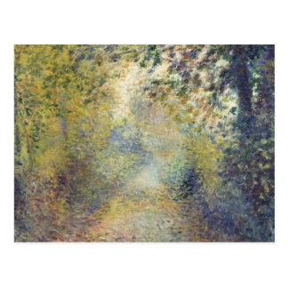 Cartão Postal Nas madeiras por Pierre-Auguste Renoir