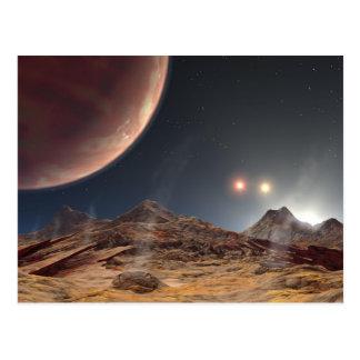 Cartão Postal NASA dos sóis HD188753 três