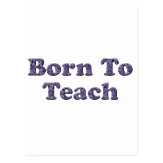 Cartão Postal Nascer a Ensinar-Roxo