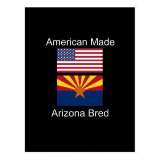 """Cartão Postal """"Nascer americano. """" Bandeiras produzidas arizona"""