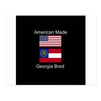 """Cartão Postal """"Nascer americano. Geórgia produziu"""" bandeiras e"""