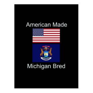 """Cartão Postal """"Nascer americano. Michigan produziu da"""" o design"""