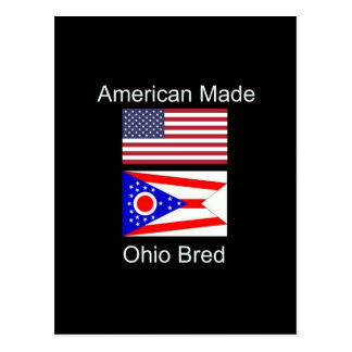 """Cartão Postal """"Nascer americano. Ohio produziu"""" bandeiras e"""