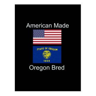 """Cartão Postal """"Nascer americano. Oregon produziu"""" bandeiras e"""