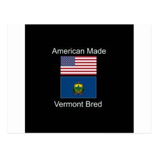 """Cartão Postal """"Nascer americano. Vermont produziu"""" bandeiras e"""
