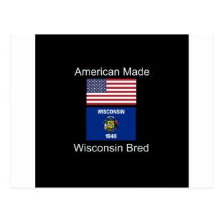 """Cartão Postal """"Nascer americano. Wisconsin produziu da"""" o design"""
