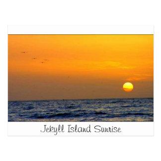Cartão Postal Nascer do sol da ilha de Jekyll