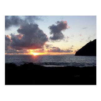 Cartão Postal Nascer do sol da praia de Makapuu