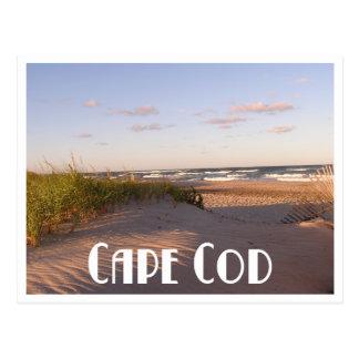 Cartão Postal Nascer do sol de Cape Cod sobre a praia,