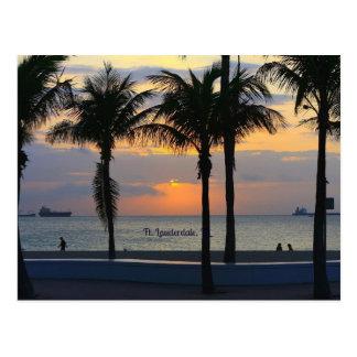 Cartão Postal Nascer do sol de Fort Lauderdale