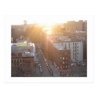 Cartão Postal Nascer do sol de NYC