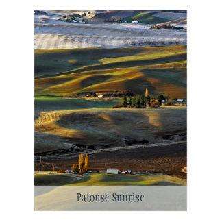 Cartão Postal Nascer do sol de Palouse