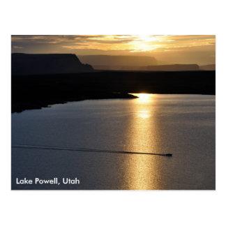 Cartão Postal Nascer do sol de Powell do lago - área de