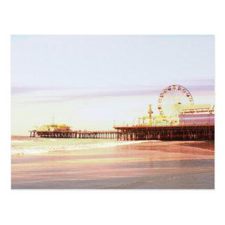 Cartão Postal Nascer do sol do cais de Santa Monica