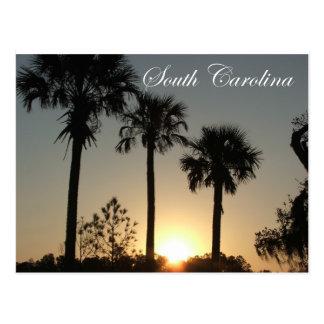 Cartão Postal Nascer do sol do Palmetto de South Carolina
