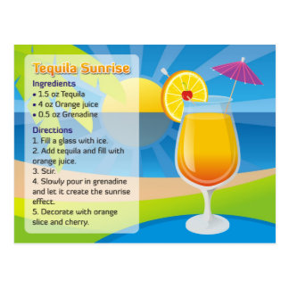 Cartão Postal Nascer do sol do Tequila