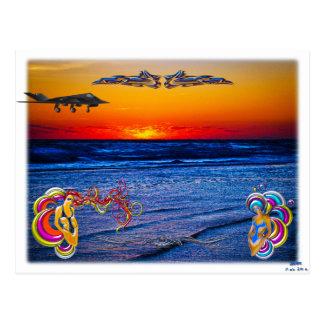 Cartão Postal Nascer do sol do Tequila sobre o divertimento