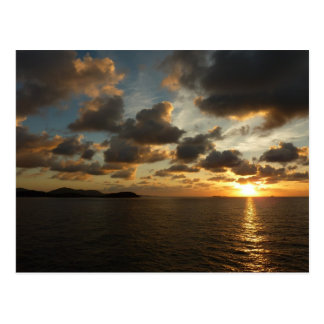 Cartão Postal Nascer do sol em St Thomas mim E.U. Virgin Islands