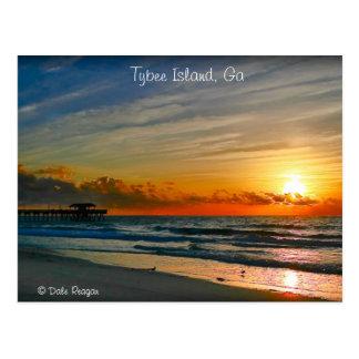 Cartão Postal Nascer do sol - ilha de Tybee