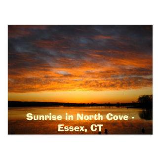 Cartão Postal Nascer do sol na angra norte - Essex, CT