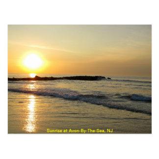 Cartão Postal Nascer do sol no Atlântico