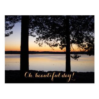 Cartão Postal Nascer do sol no lago