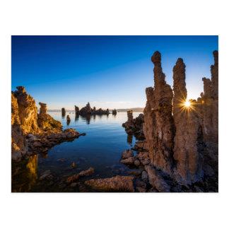 Cartão Postal Nascer do sol no mono lago, Califórnia