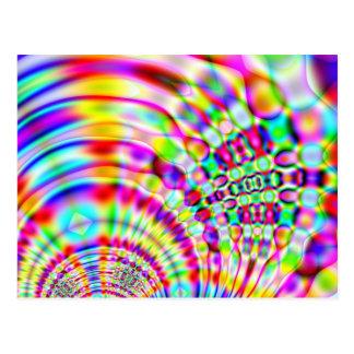 Cartão Postal Nascer do sol psicadélico do hippy do arco-íris