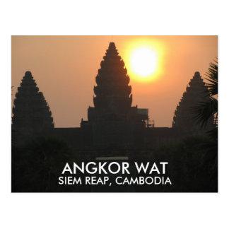 Cartão Postal Nascer do sol Siem Reap Cambodia Ásia do templo de