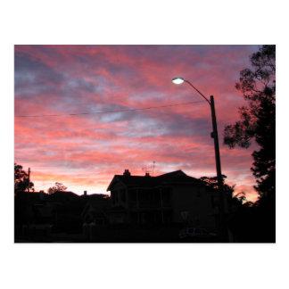 Cartão Postal Nascer do sol sobre o parque centenário, Sydney