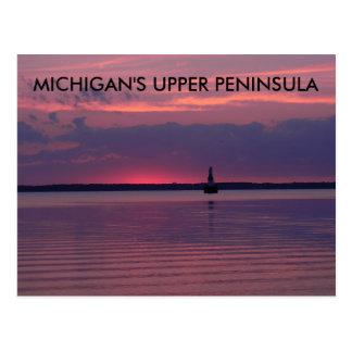 Cartão Postal Nascer do sol superior de Michigan