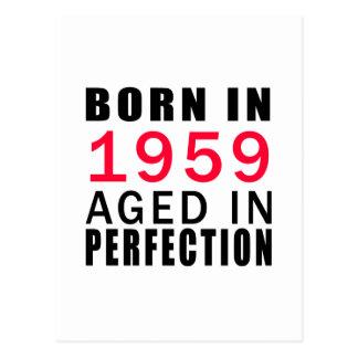 Cartão Postal Nascer envelhecido em 1959 na perfeição