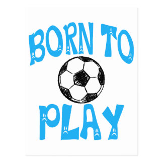 Cartão Postal nascer para jogar o futebol