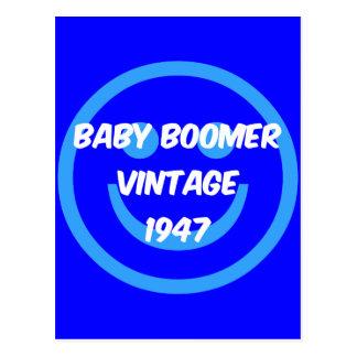 Cartão Postal nascido no Baby Boom 1947