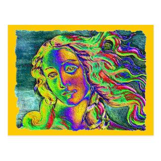 Cartão Postal Nascimento da borda áspera de Venus