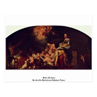 Cartão Postal Nascimento de Mary por Murillo Bartolomé Esteban