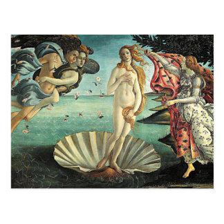 Cartão Postal nascimento do botticelli do venus
